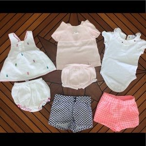Girls Janie and Jack 3-6 months, lot of 7
